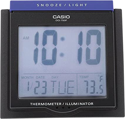 Merveilleux Casio #DQ750F 1DF Multi Function Digital Thermometer Table Top Alarm Clock