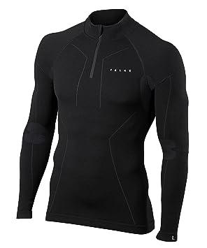 FALKE Ropa Interior Lana Tech Zip Camiseta Comfort, otoño/Invierno, Hombre, Color