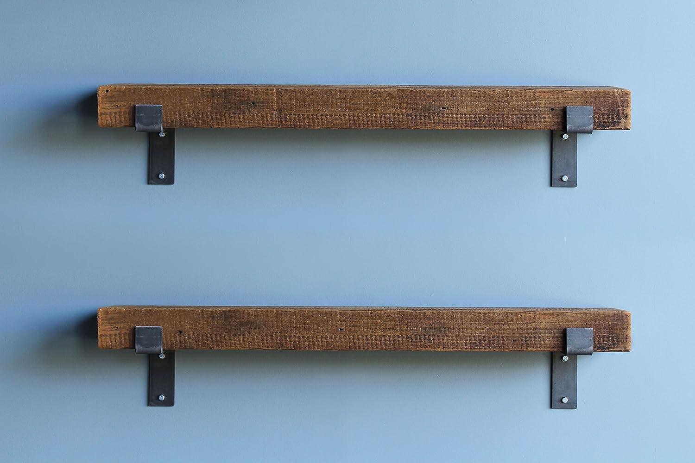 Amazon.com: Urban Legacy Barn Wood Shelves Chunky Rustic Industrial ...