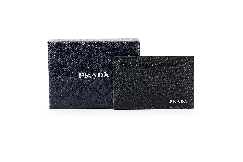 340d1a4a Prada Saffiano Cuir Logo Plaque Card Case, Black (Nero) 2MC208 ...