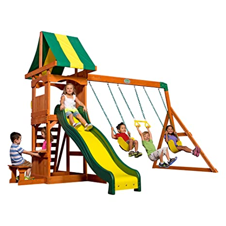 Image Unavailable. Image not available for. Color: Backyard Discovery  Weston All Cedar Wood Playset Swing Set - Amazon.com: Backyard Discovery Weston All Cedar Wood Playset Swing