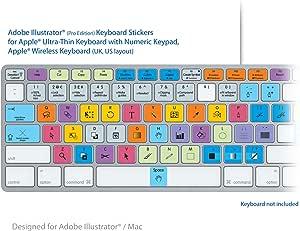 Adobe Ilustradora americana de teclado y apto pegatinas Pro ...