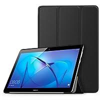MoKo Huawei MediaPad T3 10 Custodia Cover - Ultra Sottile Leggero Supporto Tri-Fold Smart Case Cover Protettiva per Huawei MediaPad T3 10 9.6 Tablet 2017, Nero