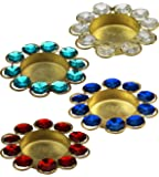 ITOS365 Diwali Diya Lights Candle Holder Home Decoration Items for Gifts, Set of 4
