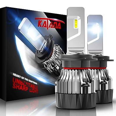 KATANA H7 LED Headlight Bulbs w/Mini Design,10000LM 6500K Cool White CREE Chips All-in-One Conversion Kit: Automotive [5Bkhe0910838]