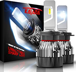 KATANA H7 LED Headlight Bulbs w/Mini Design,10000LM 6500K Cool White CREE Chips All-in-One Conversion Kit