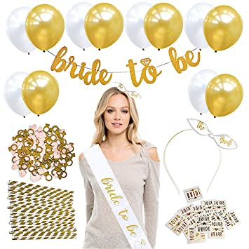 bachelorette party decorations kit bridal shower decoration party supplies accessories bride to be