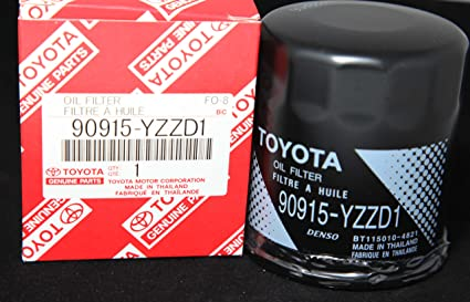Toyota Genuine Parts >> Amazon Com Toyota Genuine Parts 90915 Yzzd1 Oil Filter 1 Case Qty