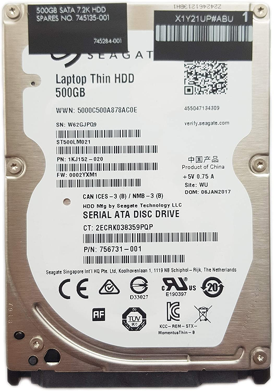 HP 500GB 7200rpm 2.5
