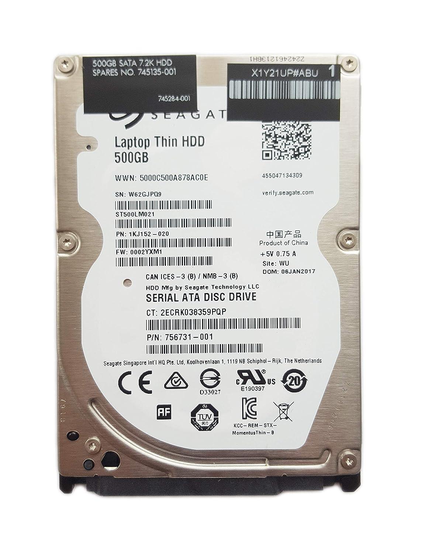 HP 500GB 7200rpm 2.5