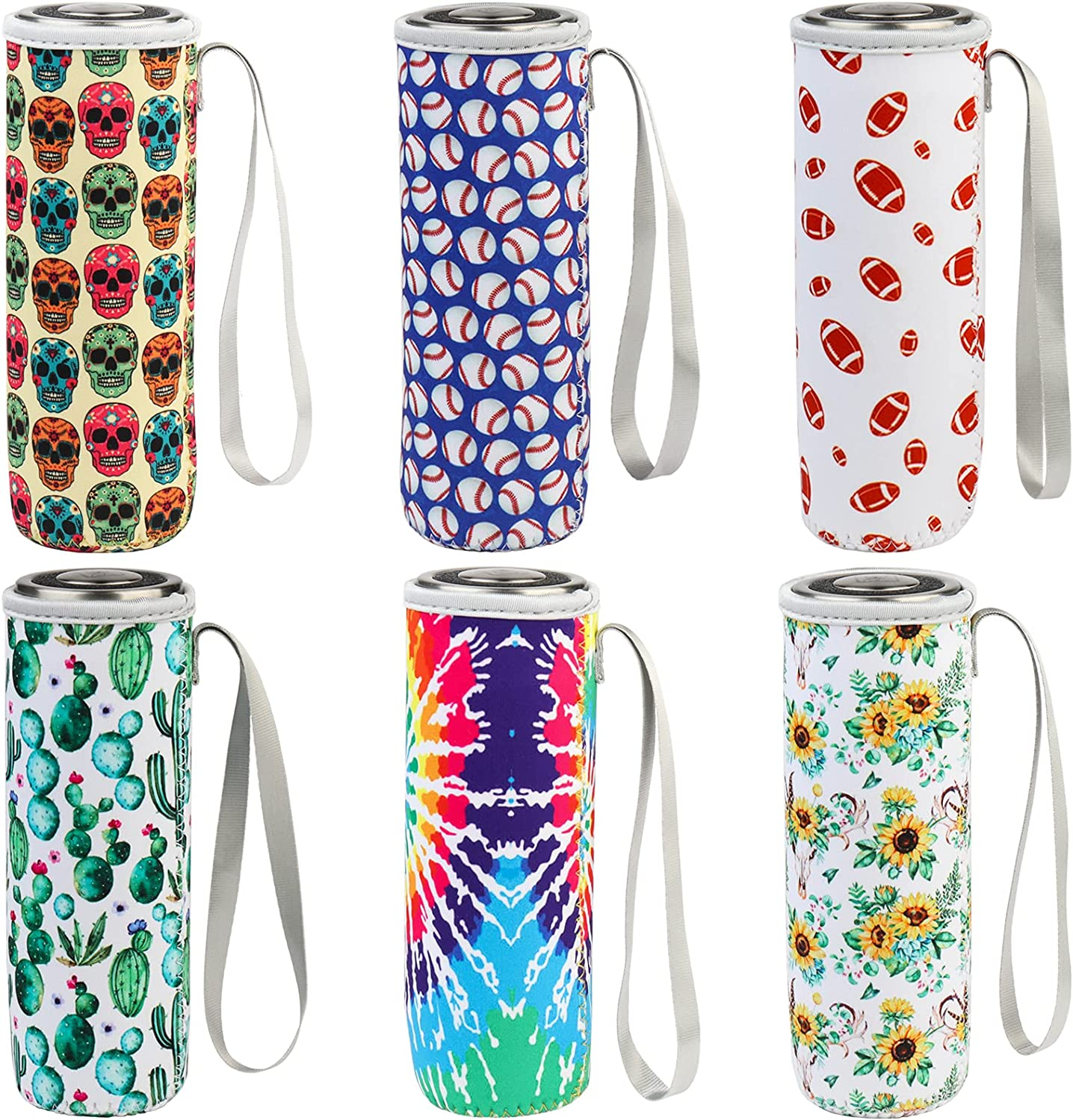 HaiMay 6 Pieces Reusable Bottle Sleeve Insulated Water Bottle Cooler Cover Glass Drink Bottle Holder fit 12 - 18 oz Glass and Plastic Bottle, Fresh Style