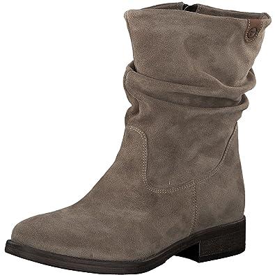 7ba2b4a0b779 Tamaris Damen Stiefel 25472-21,Frauen Boots,Reißverschluss,Blockabsatz  3cm,Taupe