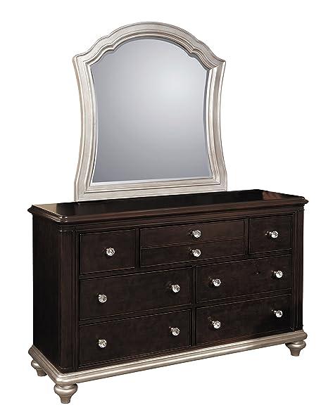 Amazon.com: Las niñas Glam 7 Cajón Dresser – Dark Cherry ...