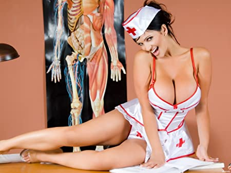 Sexy nurse with big tits