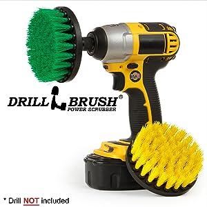 Cleaning Supplies - Drill Brush - Bathroom Accessories - Household Spin Brush Combo - Scrub - Shower Curtain - Bath Mat - Bidet - Bathtub, Sink, Flooring - Kitchen Tools - Hard Water, Soap Scum, Rust