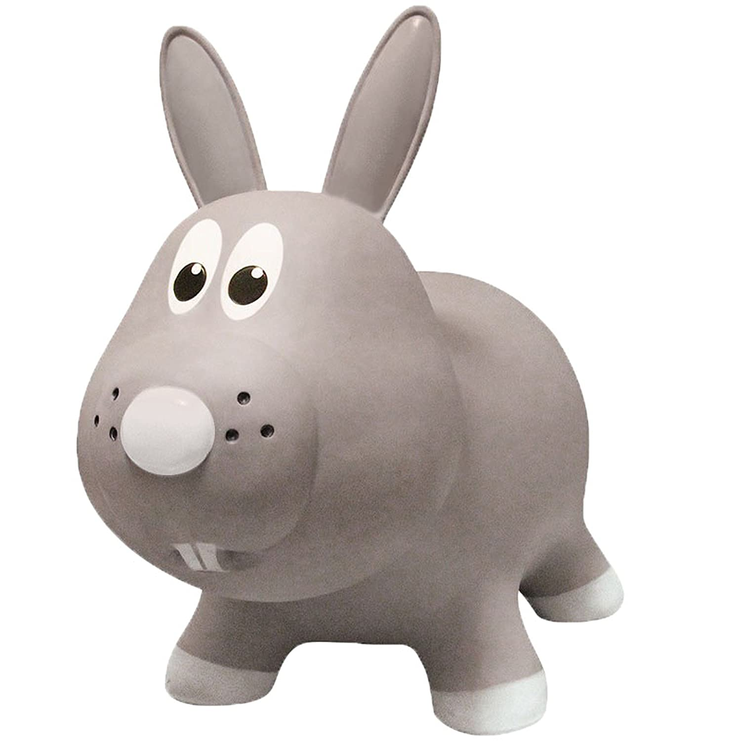Farm Hoppers Award Winning Inflatable Bouncing Grey Rabbit Plus Pump