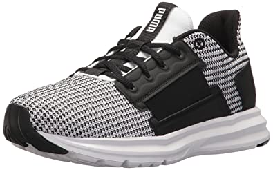 9619d1019114bb PUMA Women s Enzo Street Knit Wn Sneaker White Black