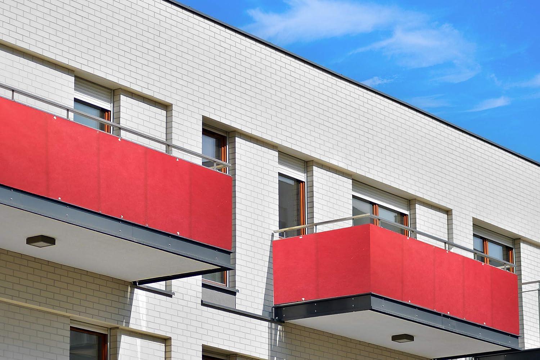 Cover It Sichtschutz Balkon Sonnenschutz Vorhang I Seitensichtschutz I Wand Paravant Schutz Dekoration I Seitenrollo Terrassen-Markise f/ür Mehr Schutz I Beige 70x300