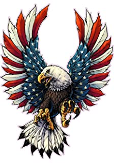 Amazon com: Bald Eagle American Flag Eagle Wings Decal with