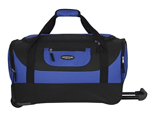 ef1ca74569a4 Travelers Club Luggage Adventure 20 quot  Multi-Pocket Sports Rolling Duffel