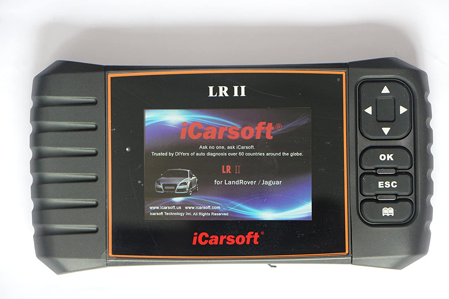 ICarsoft LR II Outil de diagnostic scanner avec support antid/érapant pour Landrover//Jaguar