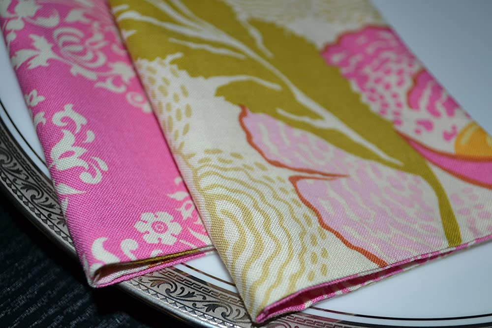 Blossom Fairies Reversible Cloth Napkins//Set of 4