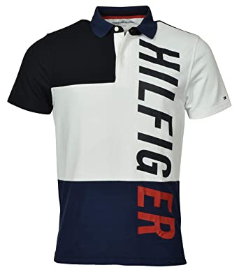 Tommy Hilfiger - Polo Deportivo para Hombre - Blanco - X-Large ...
