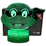 Ninja Turtles Cartoon Illusion LED Desk Lamp Night Light with Lighted ABS Base and USB Cable,7 Colours Change,Smart…