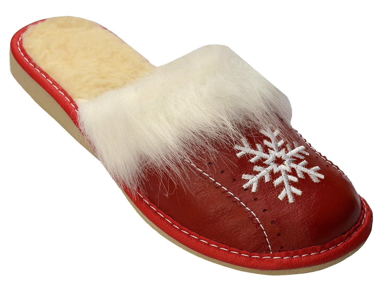 Bawal Chaussons pour pantoufles pour 19938 les femmes confort naturel Xg06 cuir chaussons pantoufles marron taille 36-41 Rot Warme Xg06 606da36 - automatisms.space