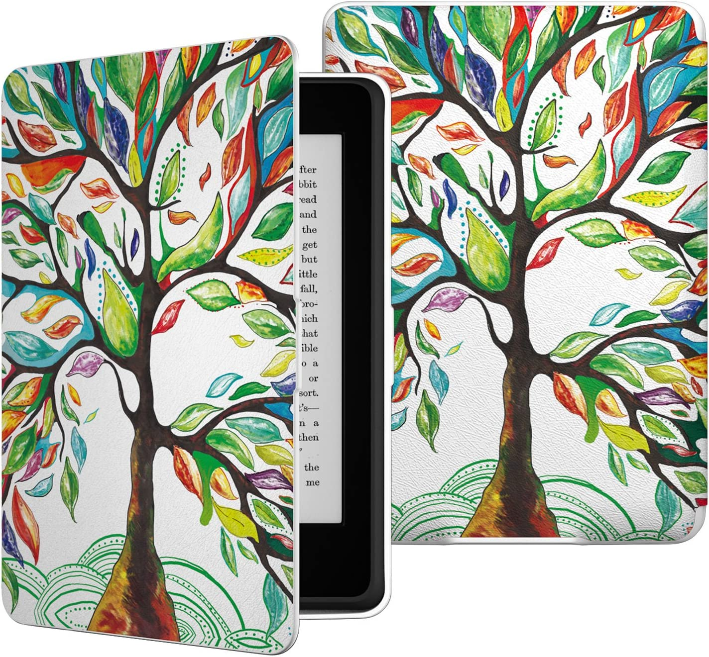 B00CSW4BGW MoKo Case for Kindle Paperwhite, Premium PU Leather Cover with Auto Wake/Sleep Fits All Paperwhite Generations Prior to 2018 (Will not fit All-New Paperwhite 10th Generation), Lucky TREE 81thi4HWbUL