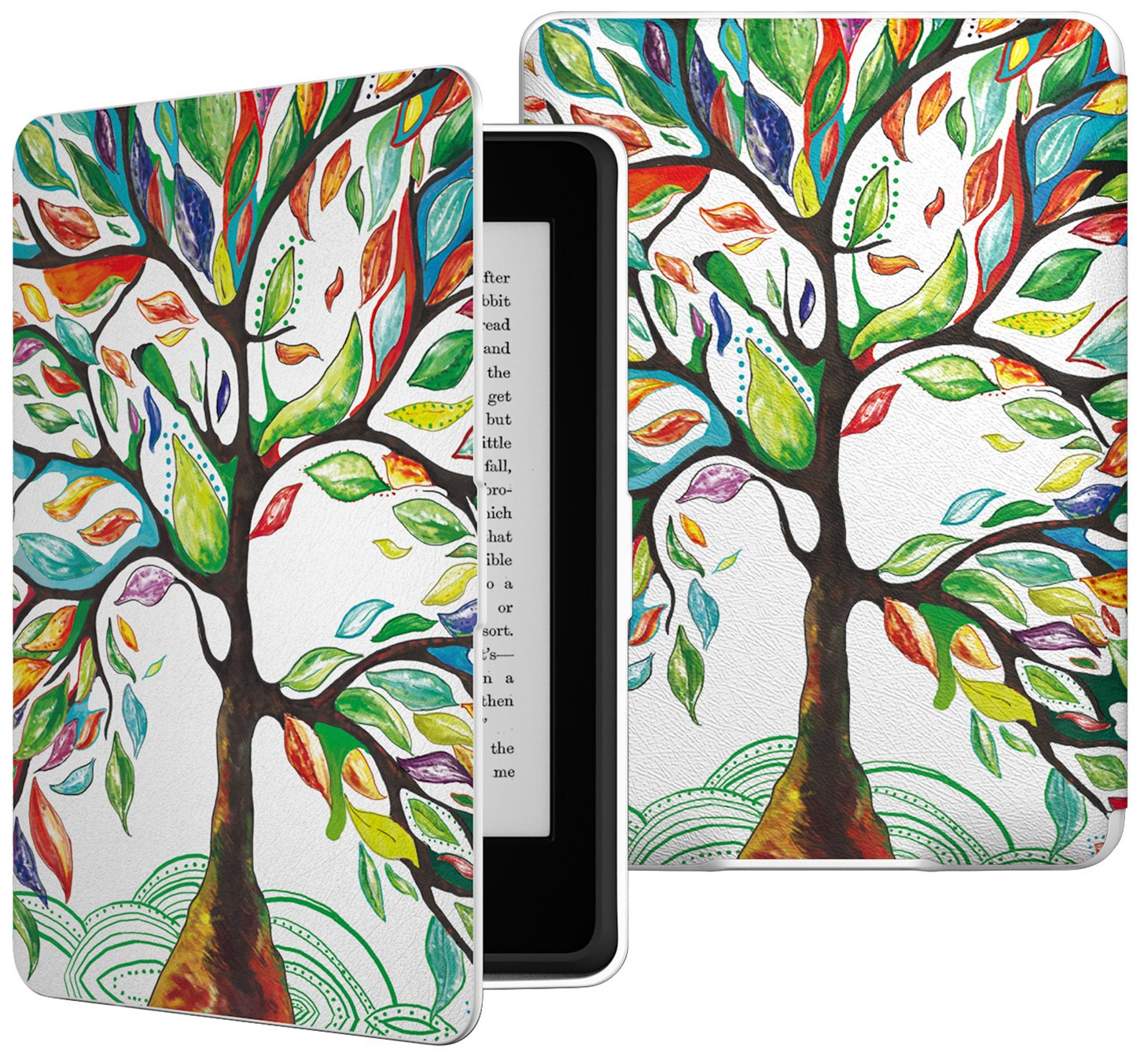 MoKo 741459010997180828 Case for Kindle Paperwhite, Premium Thinnest and Lightest PU Leather Cover with Auto Wake/Sleep for Amazon All-New Kindle Paperwhite (Fits 2012, 2013, 2015 and 2016 Versions), Lucky Tree