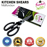 Multifunctional Kitchen Shears By Kitchen Life | Multi-Purpose Kitchen Scissors For Meat, Chicken, Poultry, Vegetables, Herbs & More | Best Utility Scissors w/ Comfortable Handles