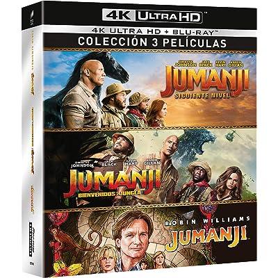 Jumanji: 1995 + Bienvenidos a la Jungla + El Siguiente Nivel (4K UHD + BD) [Blu-ray]