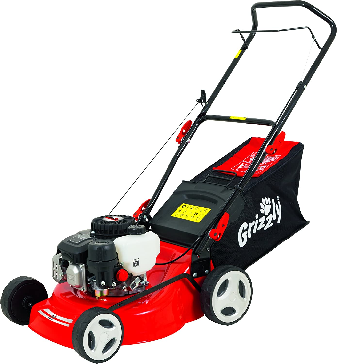 Cortacésped de gasolina Grizzly BRM 4210-10 1,6 kW 2,1 PS, 42 cm Anchura de corte, 5 veces regulable en altura