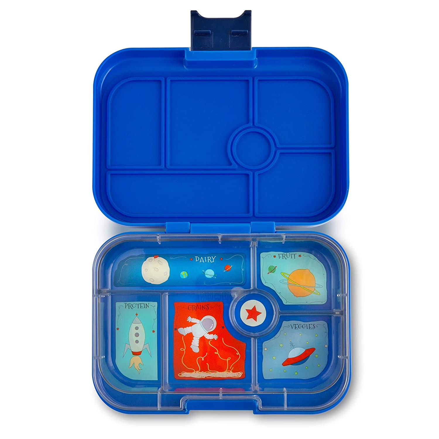 YUMBOX (Neptune Blue) Leakproof Bento Lunch Box Container for Kids: Bento-style lunch box offers Durable, Leak-proof, On-the-go Meal and Snack Packing