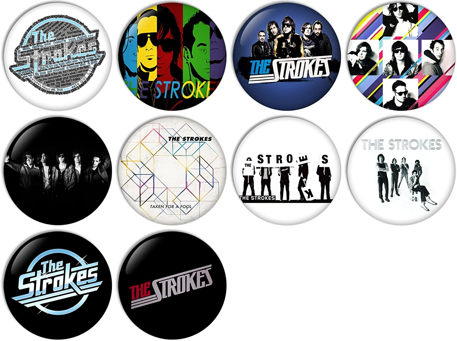 The Strokes Pinback Buttons Badges/Pin 1 Inch (25mm) Set of 10 New