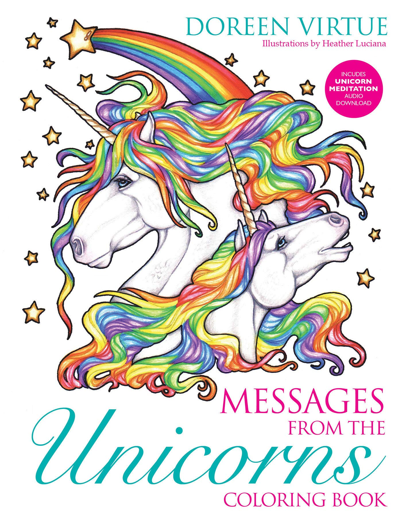 Messages From The Unicorns Coloring Book Amazon In Doreen