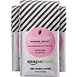 AmazonFresh Donut Café, 100% Arabica Coffee, Medium Roast, Ground, 12 Ounce, Pack Of 3