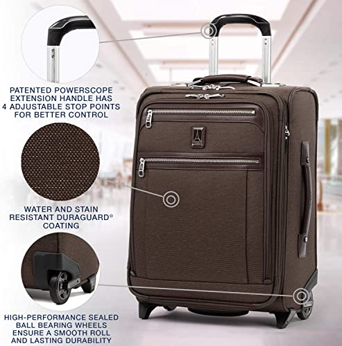 Travelpro Platinum Elite – Softside Expandable Upright Luggage, Rich Espresso, Carry-On 20-Inch