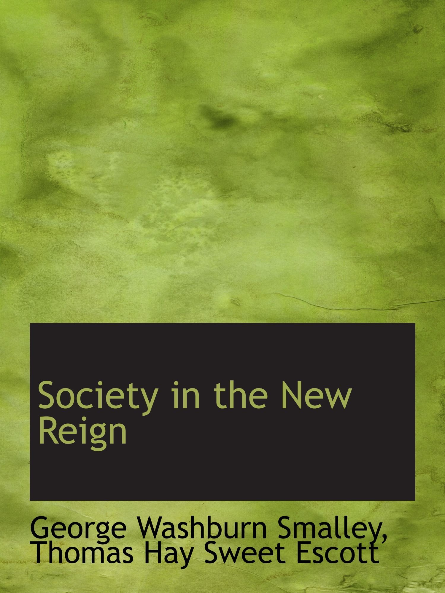 Society in the New Reign pdf epub