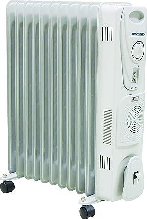 MPM MUG-14 Radiador de Aceite Portátil con Turbo-Fan y Termo, 2700 W, 0 Decibeles, Blanco: Amazon.es: Hogar