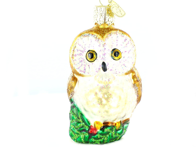 Old World Christmas Ornaments: Christmas Owl Glass Blown Ornaments for Christmas Tree 16094