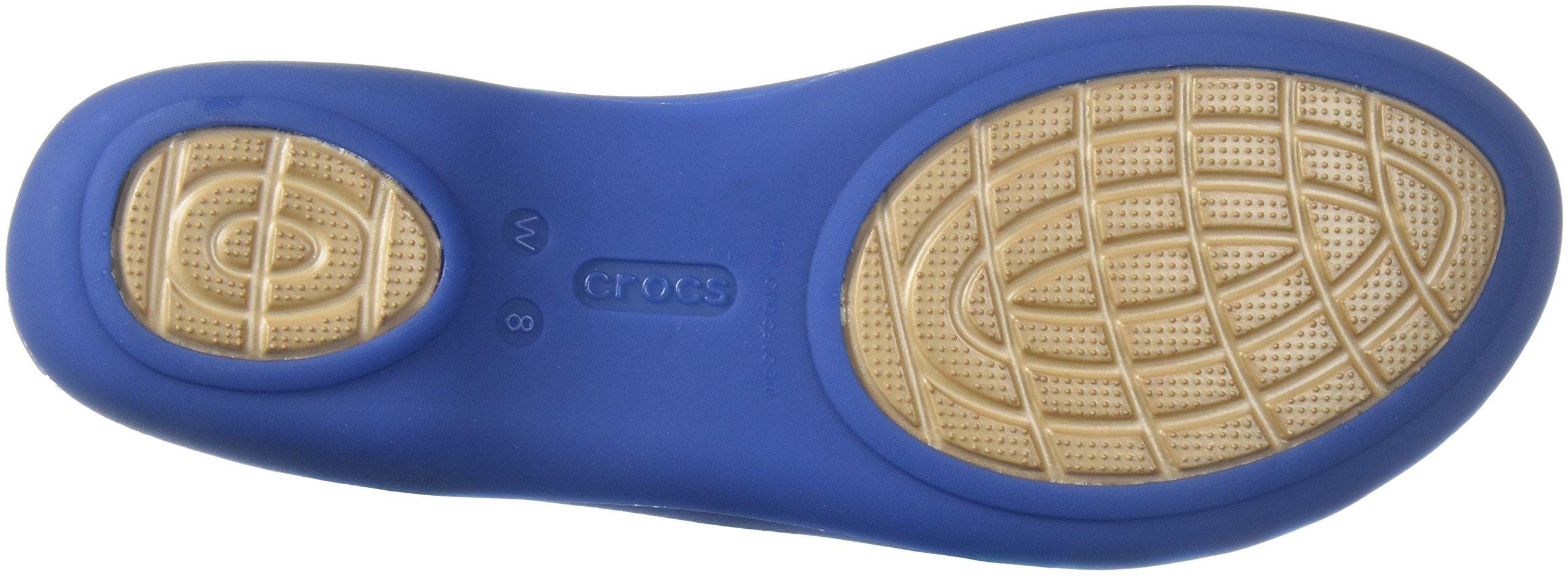 best cheap 8e658 59695 Crocs Women's Isabella Huarache 2 Flat W Sandal, Blue Jean ...