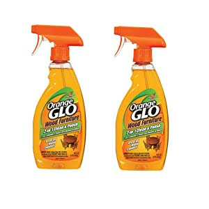 Orange Glo 2-in-1 Clean & Polish Wood Furniture Spray - 16 oz - 2 pk