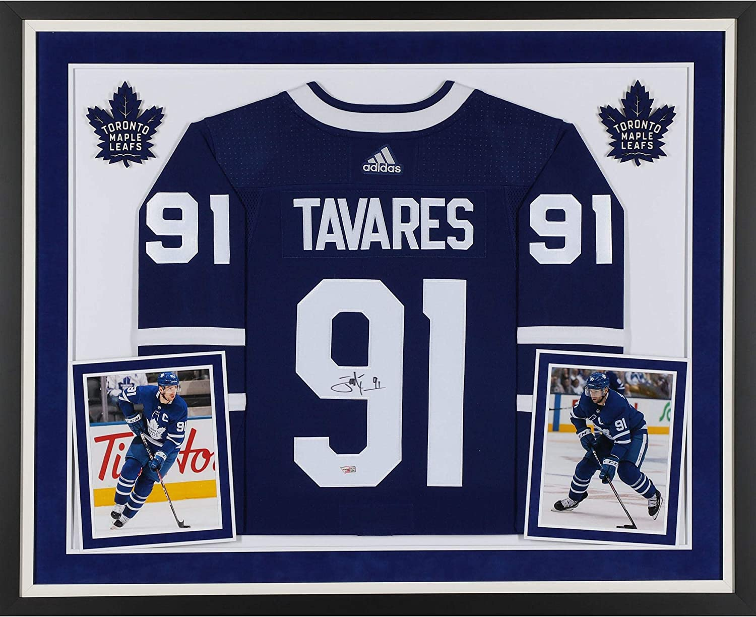 John Tavares Toronto Maple Leafs Deluxe Framed Autographed Blue Adidas Authentic Jersey Fanatics Authentic Certified At Amazon S Sports Collectibles Store