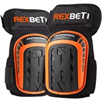 Knee Pads for Work Construction Gel Knee Pads Tools by REXBETI Heavy Duty Comfortable Anti-Slip Foam Knee Pads for…