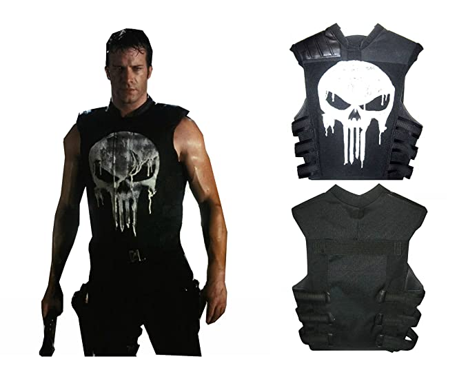 Punisher Frank War Zone Thomas Jane Tactical Real Leather Vest