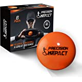 Precision Impact Baseball-Size Slugs: Heavy Weighted Practice Balls for Baseball; Hitting Training Aid (6-Pack)