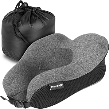 outlet on sale buy cheap size 40 Fosmon Travel Pillow, Soft and Comfortable Memory Foam Travel Neck  Pillow,Head and Chin Support Neck Cushion, Machine Washable 100% Cotton  Cover for ...