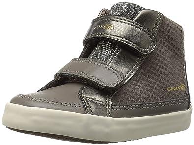 b7dd01f75b311 Geox Gisli Girl 5 High Top Velcro Sneaker, Smoke Grey 23 Medium EU Toddler (